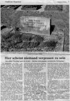 Zeitungsartikel über Ermordung Zwangsarbeiter in Ruckersfeld